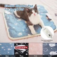 S/M/L Pet Heat Pad Puppy Electric Heated Mat Blanket Dog Cat Whelping Bed Mats