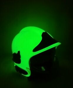 MSA GALLET F1SF Firefighter helmet GOLD shield, Glow in Dark, Nomex neckguard