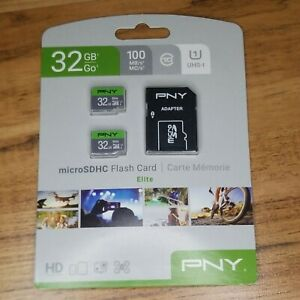 PNY Technologies 32GB Elite UHS-I microSDHC Memory Card - New in Box