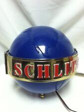 Schlitz beer sign 1964 motion globe spinning wall sconce light lighted bar spin