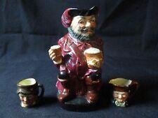 Royal Doulton Toby Jug Mugs Lot - Sir John Falstaff 8328a & Paddy & Old Charlie