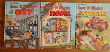 Lot of 3 Books Walt Disney How It Works in the City... Country...Home