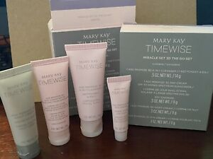 New MARY KAY TimeWise Miracle Set 3D The Go Set  4-Piece Combo-Oily Skin Travel