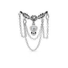 Chain HEART Dangle Reverse TOP Down BELLY Button NAVEL Barbells RINGS Piercings