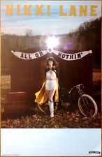 NIKKI LANE All Or Nothin' Ltd Ed Discontinued RARE Poster +FREE Folk Rock Poster