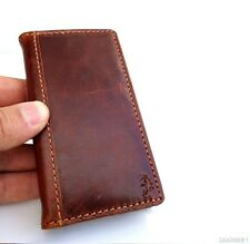 genuine vintage leather case for iphone 4s 4 cover book wallet stand holder ip4