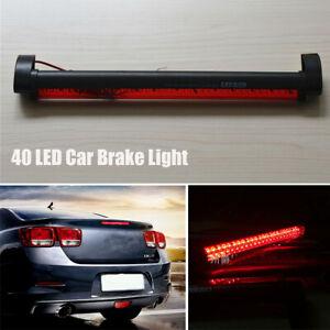 Red Lens 40 LED High Mount 3rd Brake Light Bar Stop Lamp Waterproof For Auto Car