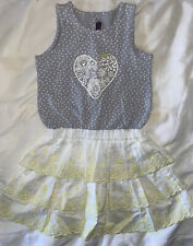 Catimini Girls Summer Sleevless Dress Size 6