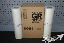 2 Genuine Riso S-2659 78W A3 Master Rolls Risograph GR3770 Digital Duplicator
