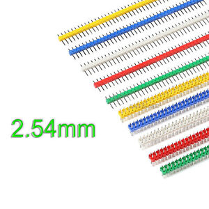 Pin Header Male PCB Connector 2.54mm Double/Single Row Socket Arduino-Multicolor