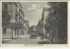 83961 ANTICA CARTOLINA DI CEFALU' PERSONE E CAMION VIA MATTEOTTI GIACOMO