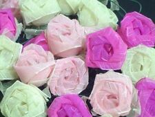 Mixed Pinks Rose Flowers Mains Plug LED Fairy Lights & Green Leaves