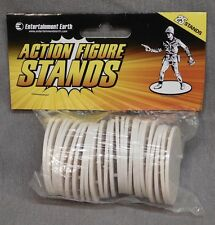 """Action Figure Stands Case - White - Fits most 3 3/4"""" Action Figures"""