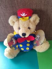 Vintage Applause Bears IN Toyland Plush Animal TEDDY WITH CYMBALs