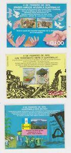 Guatemala 3 souvenir sheets mnh 1976