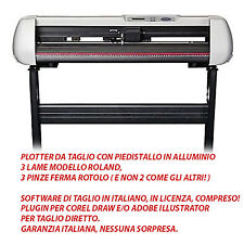 Plotter da taglio con piedistallo, 3 lame roland, software italiano! garanzia it