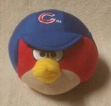 "ANGRY BIRDS CHICAGO CUBS 5"" Red Plush Stuffed Toy Doll MLB Blue Baseball Cap '14"