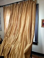 """Custom Interlined Gold Silk Luxury Curtains Panel Draperies Weighted 49"""" x 101"""""""