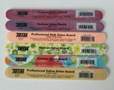 Trim Professional/Fashion Salon Board Nail Files Variety Pack of 6 New