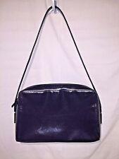 Gucci Leather Shoulder Bag Navy Blue Patent Leather 001-1014-1760