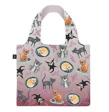 Cat House Foldable Shopping Bag in Pouch - Allen Designs Open 49x41cm
