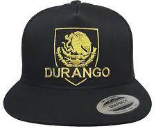 DURANGO MEXICO NEW LOGO FEDERAL HAT BLACK MESH SNAPBACK