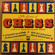 CODEG Productions Vintage 1960'S CHESS SET With Carved Wooden Pieces COMPLETE
