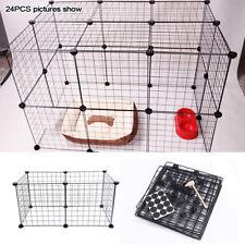Pet Cage Metal Playpen 6 Panel Dog Cat Rabbit Play Pen Wire Run Fence Enclosures