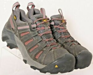Keen Flint Low Gray Steel Toe Lace-Up Comfort Work Boots Shoes Women's US 10M