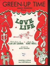 Green-up Time 1948 Love Life Sheet Music