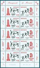 MONACO - N° 2627 & 2628 - Feuille Neuve de 5 Paires // 2008 - JEUX D'ETE A PEKIN