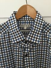 Reiss Shirt with Vintage Style Geometric Design. Large. Slim Fit. Worn Once.