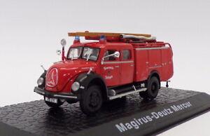 Atlas Editions 1/76 Scale 4144 105 - Magirus Deutz Mercur - Fire Engine