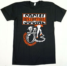SOCIAL DISTORTION T-shirt Ball & Chain Tour 1990 Punk Rock Tee Men's SMALL New