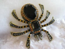 "HEIDI Daus ""Heidee Long Legs"" Art-Deco Style (Jet) Spider Pin (Orig.$159.95)"