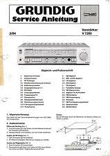 Service Manual-Istruzioni per Grundig V 7200