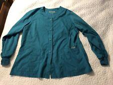 Grey'S Anatomy 2Xl Scrub Jacket Top Aqua Green Plus size Barco Uniform