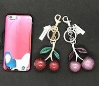 NWT Coach Keychain Glitter Cherry Bag Charm F58516