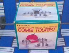 EVERNEW COMBI TOURIST STAINLESS STEEL COPPER CLAD BOTTOM CAMPING COOK SET