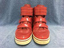 Vlado Footwear Luxury Aristocrat Men's Red Leather Hi-Tops IG-1070-3 SIZE 12 GUC