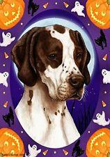 English Pointer Liver & White Halloween Howls Flag