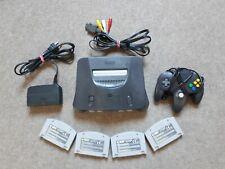 Super Nintendo 64 Konsole mit 1 Controller + 4 Zufällige Spiele Module N64