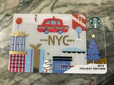 RARE 2016 Starbucks NYC / New York City HOLIDAY EDITION gift card RED TAXI