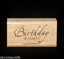 Stampin Up Sincere Salutations Stamp Single Birthday Wishes for Family & Friends