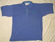 GREG NORMAN COLLECTION REEBOK Mens Shirt BLUE METAL BUTTONS XL GOLF POLO