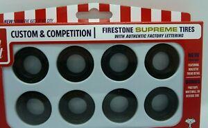 AMT Firestone Supreme  Tires Parts Pack tires for model cars 1/25 #27