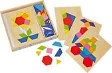 Mosaik-Box, Legespiel aus Holz, Holzpuzzle, 94 Teile
