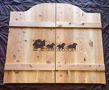 "37-52"" Western StageCoach Horses Saloon Cafe Swinging Doors"