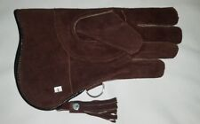 New Falconry Glove Large Size Suede Leather Double Layer 12 Inches Long Brown