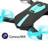 Pocket MINI Selfie Foldable Drone Camera WIFI FPV RC Quadcopter Altitude Hold UK